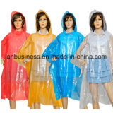 옥외를 위한 다채로운 비 판초 또는 외투 또는 케이프 포장해 개별