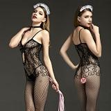 Черный открыть устанавливаться пола одежды женщин Slutty эротические костюмы порно женщин секси белья Fishnet органа хранение одежды
