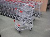 Doppelte waagerecht ausgerichtete Einkaufen-Laufkatze-neuer Art-Einkaufswagen