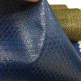 Stof van de Polyester van de Stijl van de ruit de Pu Met een laag bedekte voor de Bagage van de Zak