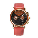 O cronógrafo original 3ATM de Japão Waterproof o relógio de madeira dos homens dos relógios de pulso