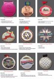 공장 가격 아크릴 돌 반짝임 메달 3 인치 다이아몬드