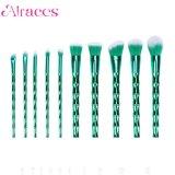 L'ombretto superiore verde all'ingrosso 10PCS arrossisce insieme di spazzola di trucco del fondamento