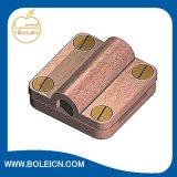 Conduttore di terra d'ottone per legare morsetto con un nastro quadrato per protezione contro il fulmine