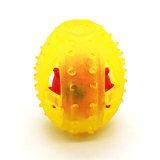 كلب متع [روغب-شبد] كرة مع حل [بلّ] تصميم لعبة مجوّف [فوود كنتينر] محبوب مضغ لعب