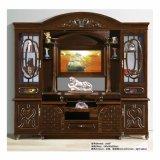 Hölzerner Fernsehapparat-Standplatz-Ausgangswohnzimmer-Hall-Schrank