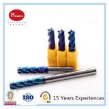CNC contínuo HRC 65 moinho de extremidade do carboneto de 2 4 flautas