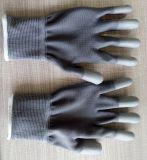 Черный полиэстер PU руках перчатки