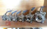 Extremidade de rosca Manual em aço inoxidável 3PCS com 2000wog da Válvula de Esfera