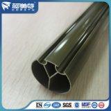 SGS het Uitstekende kwaliteit Geanodiseerde Profiel van het Aluminium van de Kleur van het Brons voor het Spoor van het gordijn
