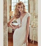 Laço que perla o vestido de casamento nupcial do vestido da sereia
