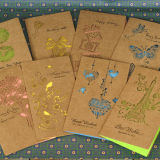 習慣によって印刷されるペーパーパターン・カードの挨拶状