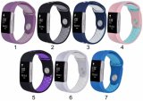 Doppelt-Farben-Silikon-Uhrenarmband-Brücke für Fitbit Ladung 2