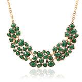 方法Drusy石造りのビード文のネックレスの胸当てのチョークバルブのきらめく宝石類