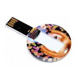 Schlüsselketten-wasserdichtes Umlauf USB-Visitenkarte-Feder-Laufwerk
