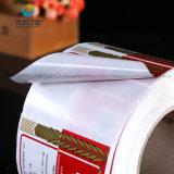Druk van de Sticker van het Etiket van het Document van het Broodje van de Sticker van de douane de Promotie Zelfklevende