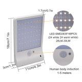 48 LED couleur de lumière solaire réglable avec trois modes de contrôleur de lampe étanche pour jardin extérieur