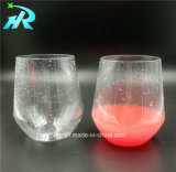 12oz de plastic Ronde Mok van de Koffie van het Glas van de Wijn
