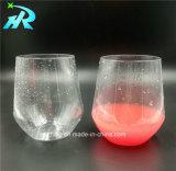 taza de café redonda plástica del vidrio de vino 12oz