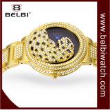 Повелительница вахта сплава платья Wristwatch женщин диаманта леопарда Belbi роскошная