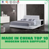 Самомоднейшая новая кровать кожи конструкции для мебели спальни