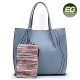 粋な女性の大きいハンドバッグの卸し売りSh395のための札入れの女性袋が付いている買物をする柔らかい女性トートバック