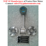 Material de acero inoxidable de 1,6 MPa vapor Vortex Caudalímetro másico de Gas