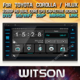 Tela de Toque do Windows Witson aluguer de DVD para a Toyota Corolla Hilux