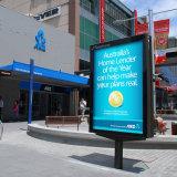 Double côté Outdoor Indoor Mupi Boîte à lumière de la signalisation d'affichage de publicité