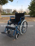 Plegamiento fácil, sillón de ruedas económico de acero