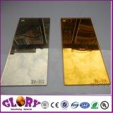 Espelho de prata plástico da decoração da parede e folha acrílica dourada do espelho