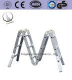 De Multifunctionele Ladder van uitstekende kwaliteit van de Scharnier van de Naar buiten gedraaide platvoet