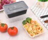 Rechteckige Wegwerfkasten-Plastikmitnehmerverpackung verdickte transparente Mittagessen-Kasten-Schnellimbiss-Mittagessen-Filterglocke des mittagessen-750ml