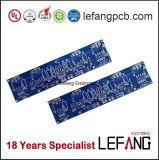 PWB azul da placa de circuito da máscara da solda para componentes automotrizes