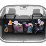 Kundenspezifischer Polyester-Auto-Rücksitz-Organisator für Speicherung mit 4 Nettotaschen