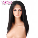 イボンヌの方法100%ブラジル人のバージンの毛の自然でまっすぐなレースのかつら