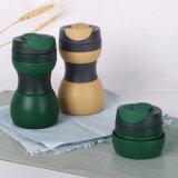 Caneca de café Foldable do curso Eco-Friendly feito sob encomenda com tampa do selo