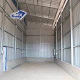 Único armazém da construção de aço do telhado do metal da inclinação