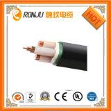 Cable de transmisión resistente al fuego forrado PVC acorazado de la cinta de acero del aislante de XLPE