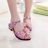 Jane-Hochzeitsfest-Rosa-Bogen-Schein-Beleg auf Schuhen für Mädchen