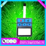 Cúpula de metal do LED do interruptor de membrana táctil com três camadas isoladas