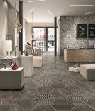 Material de construcción hexagonal Non-Slip 260*300mm Baldosa porcelana de patrón de flores