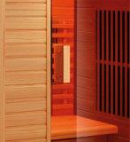 アメリカツガの赤いガラスヒーター2950W (K9768)が付いている木製のサウナ部屋