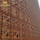 Parete divisoria di alluminio della costruzione esterna decorativa