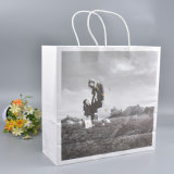 Livre blanc de haute qualité des sacs de magasinage avec l'image de l'impression