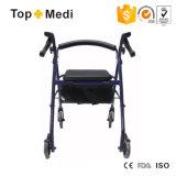 Carro de compra idoso médico de pouco peso de Rollator da cadeira de rodas da inabilidade quatro do cuidado