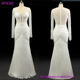 Подгонянное платье венчания W18579 втулки Llong типа Европ Beaded