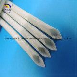 Chemise tressée enduite de fibre de verre de résine de silicones