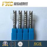 Solos molinos de la flauta del corte de aluminio profesional del carburo con alta calidad