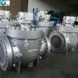 China-Form-Stahl schmiedete Stahlspitzeneintrag-Drehzapfen eingehangene Kugelventil-Fabrik mit niedrigem Preis